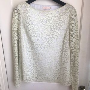 Tory Burch long sleeve lace top